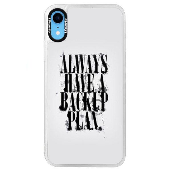 Neonové pouzdro Blue iSaprio – Backup Plan – iPhone XR Neonové pouzdro Blue iSaprio – Backup Plan – iPhone XR