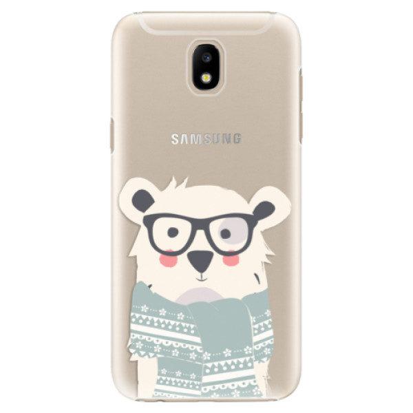 Plastové pouzdro iSaprio – Bear with Scarf – Samsung Galaxy J5 2017 Plastové pouzdro iSaprio – Bear with Scarf – Samsung Galaxy J5 2017