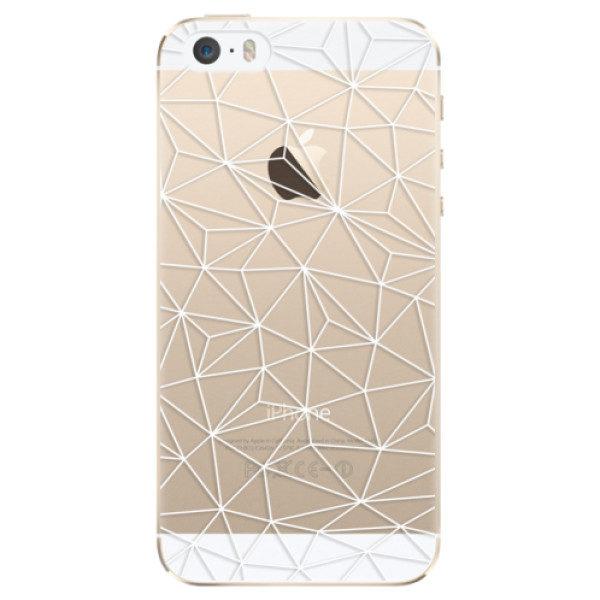 Plastové pouzdro iSaprio – Abstract Triangles 03 – white – iPhone 5/5S/SE Plastové pouzdro iSaprio – Abstract Triangles 03 – white – iPhone 5/5S/SE