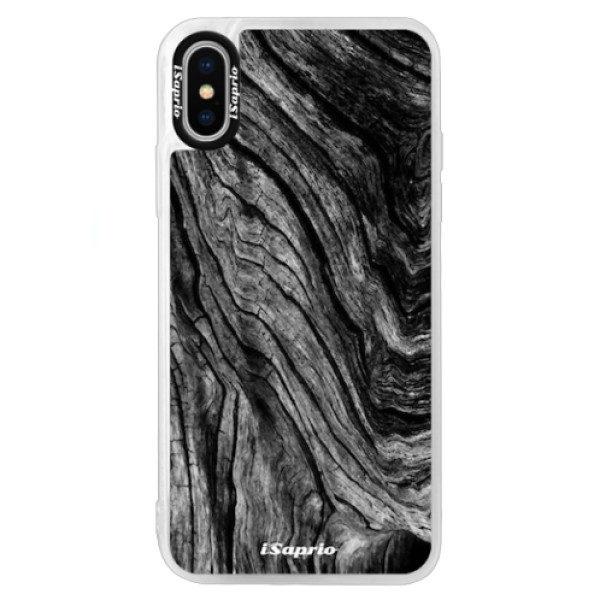 Neonové pouzdro Blue iSaprio – Burned Wood – iPhone X Neonové pouzdro Blue iSaprio – Burned Wood – iPhone X