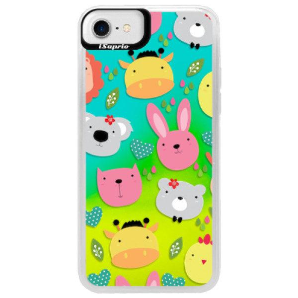 Neonové pouzdro Blue iSaprio – Animals 01 – iPhone 7 Neonové pouzdro Blue iSaprio – Animals 01 – iPhone 7