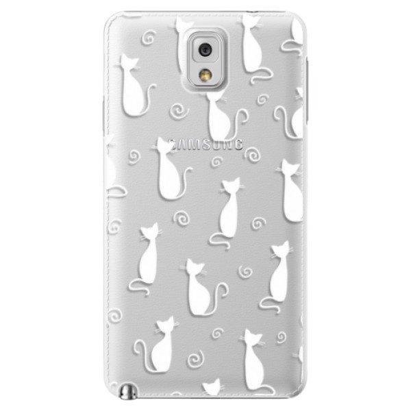 Plastové pouzdro iSaprio – Cat pattern 05 – white – Samsung Galaxy Note 3 Plastové pouzdro iSaprio – Cat pattern 05 – white – Samsung Galaxy Note 3
