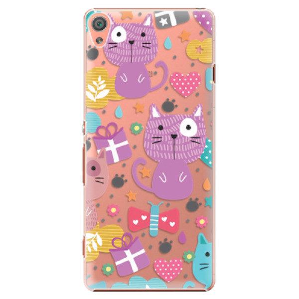 Plastové pouzdro iSaprio – Cat pattern 01 – Sony Xperia XA Plastové pouzdro iSaprio – Cat pattern 01 – Sony Xperia XA