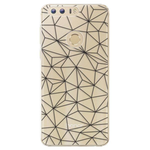 Plastové pouzdro iSaprio – Abstract Triangles 03 – black – Huawei Honor 8 Plastové pouzdro iSaprio – Abstract Triangles 03 – black – Huawei Honor 8