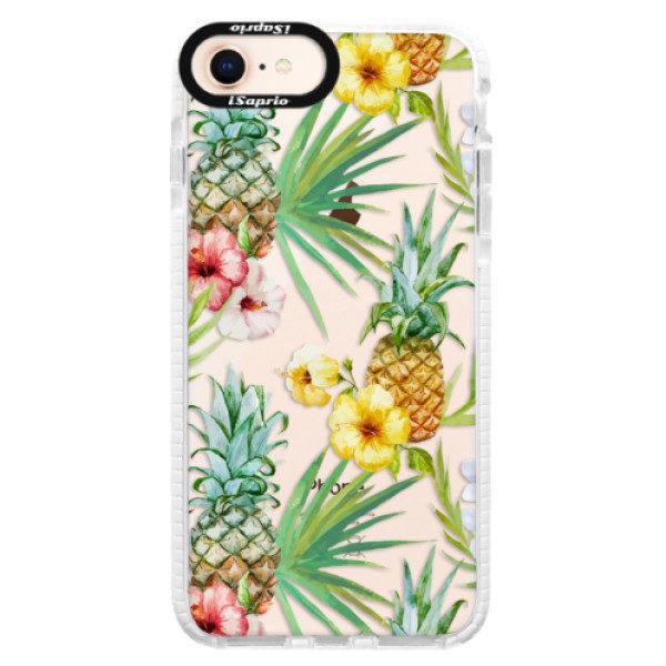 Silikonové pouzdro Bumper iSaprio – Pineapple Pattern 02 – iPhone 8 Silikonové pouzdro Bumper iSaprio – Pineapple Pattern 02 – iPhone 8
