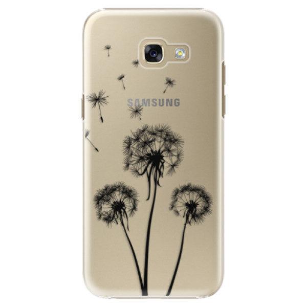 Plastové pouzdro iSaprio – Three Dandelions – black – Samsung Galaxy A5 2017 Plastové pouzdro iSaprio – Three Dandelions – black – Samsung Galaxy A5 2017