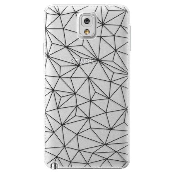 Plastové pouzdro iSaprio – Abstract Triangles 03 – black – Samsung Galaxy Note 3 Plastové pouzdro iSaprio – Abstract Triangles 03 – black – Samsung Galaxy Note 3
