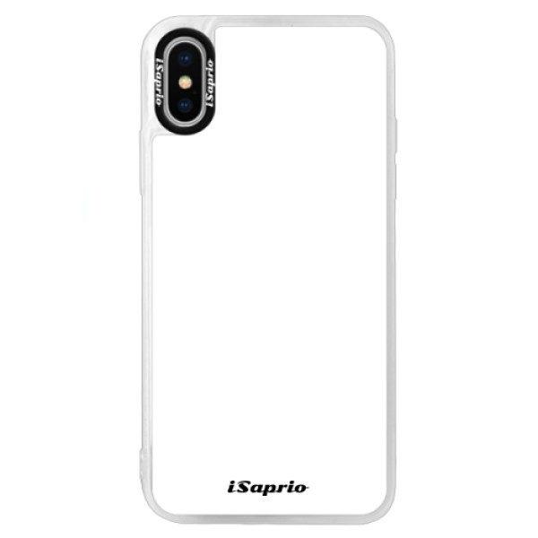 Neonové pouzdro Blue iSaprio – 4Pure – bílý – iPhone XS Neonové pouzdro Blue iSaprio – 4Pure – bílý – iPhone XS