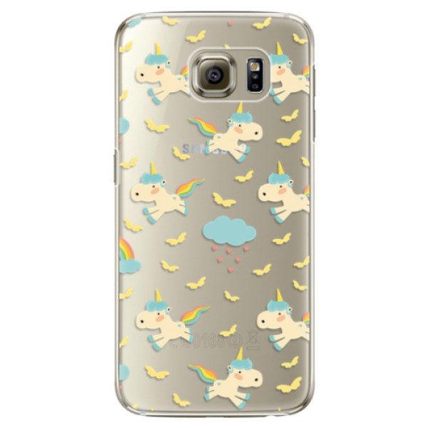 Plastové pouzdro iSaprio – Unicorn pattern 01 – Samsung Galaxy S6 Edge Plastové pouzdro iSaprio – Unicorn pattern 01 – Samsung Galaxy S6 Edge