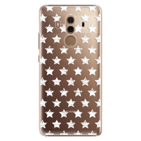 Plastové pouzdro iSaprio – Stars Pattern – white – Huawei Mate 10 Pro Plastové pouzdro iSaprio – Stars Pattern – white – Huawei Mate 10 Pro