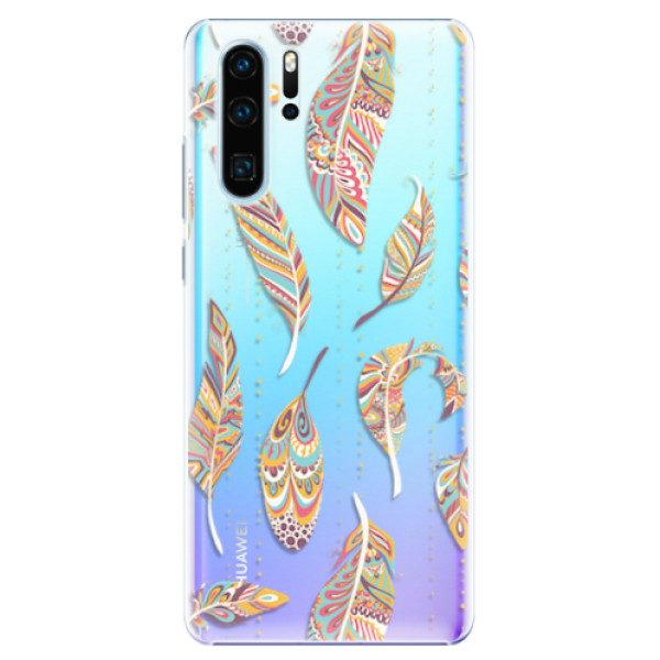 Plastové pouzdro iSaprio – Feather pattern 02 – Huawei P30 Pro Plastové pouzdro iSaprio – Feather pattern 02 – Huawei P30 Pro