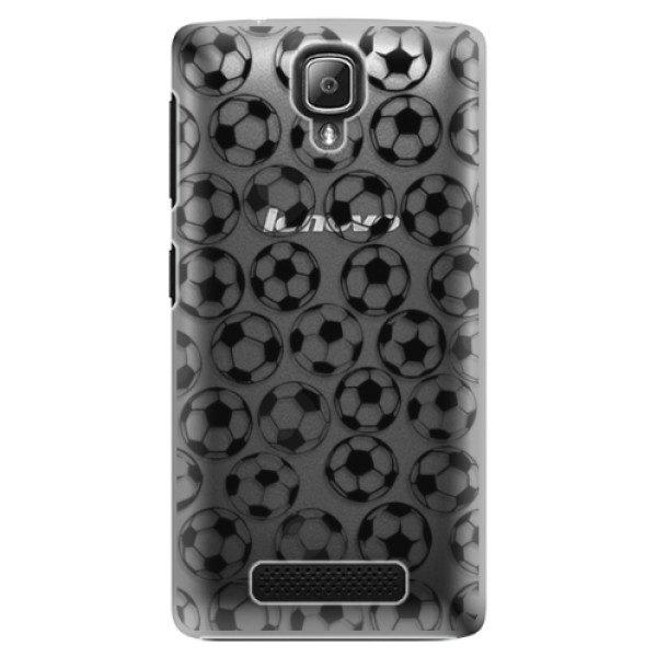 Plastové pouzdro iSaprio – Football pattern – black – Lenovo A1000 Plastové pouzdro iSaprio – Football pattern – black – Lenovo A1000
