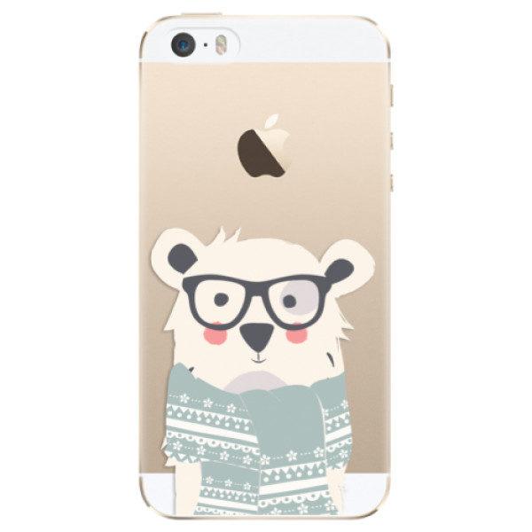 Plastové pouzdro iSaprio – Bear with Scarf – iPhone 5/5S/SE Plastové pouzdro iSaprio – Bear with Scarf – iPhone 5/5S/SE