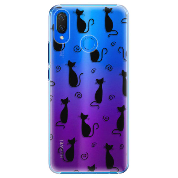 Plastové pouzdro iSaprio – Cat pattern 05 – black – Huawei Nova 3i Plastové pouzdro iSaprio – Cat pattern 05 – black – Huawei Nova 3i