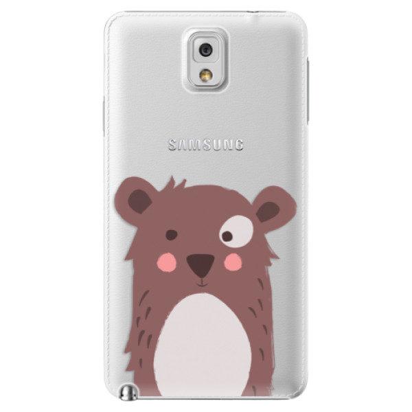 Plastové pouzdro iSaprio – Brown Bear – Samsung Galaxy Note 3 Plastové pouzdro iSaprio – Brown Bear – Samsung Galaxy Note 3