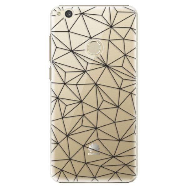 Plastové pouzdro iSaprio – Abstract Triangles 03 – black – Huawei P9 Lite 2017 Plastové pouzdro iSaprio – Abstract Triangles 03 – black – Huawei P9 Lite 2017