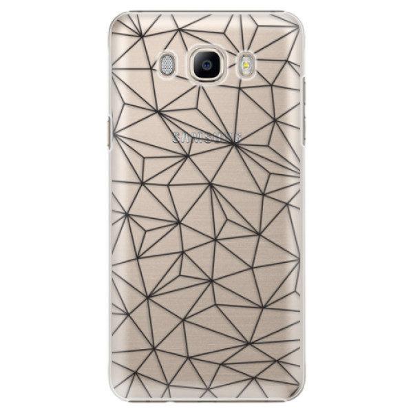 Plastové pouzdro iSaprio – Abstract Triangles 03 – black – Samsung Galaxy J7 2016 Plastové pouzdro iSaprio – Abstract Triangles 03 – black – Samsung Galaxy J7 2016
