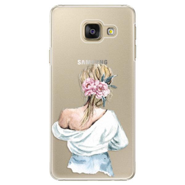 Plastové pouzdro iSaprio – Girl with flowers – Samsung Galaxy A3 2016 Plastové pouzdro iSaprio – Girl with flowers – Samsung Galaxy A3 2016