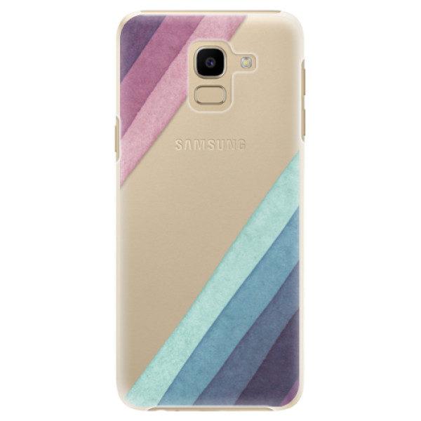 Plastové pouzdro iSaprio – Glitter Stripes 01 – Samsung Galaxy J6 Plastové pouzdro iSaprio – Glitter Stripes 01 – Samsung Galaxy J6