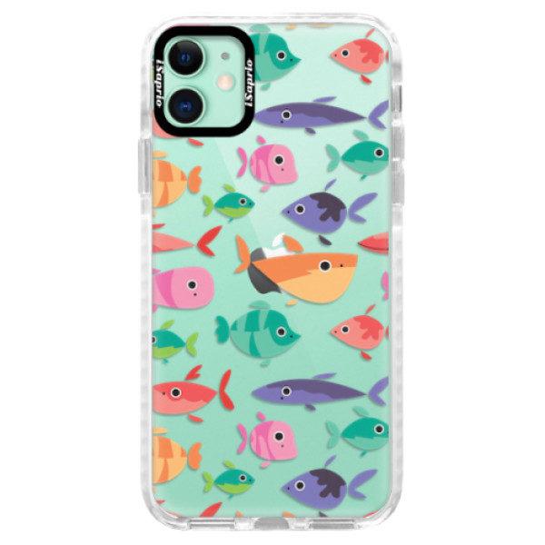 Silikonové pouzdro Bumper iSaprio – Fish pattern 01 – iPhone 11 Silikonové pouzdro Bumper iSaprio – Fish pattern 01 – iPhone 11