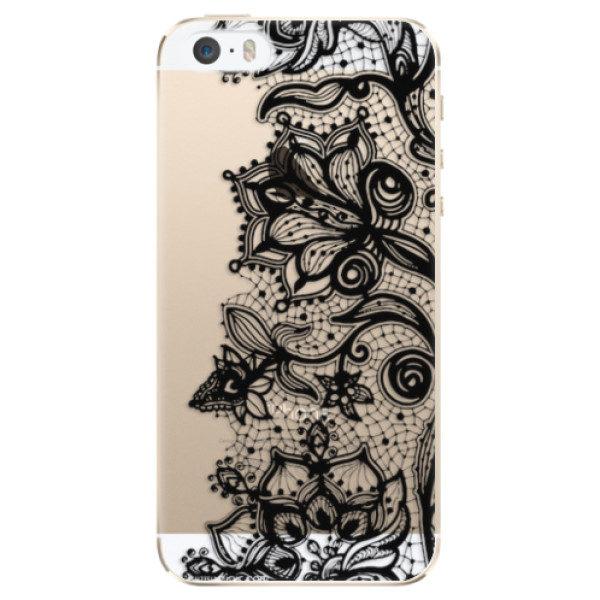 Plastové pouzdro iSaprio – Black Lace – iPhone 5/5S/SE Plastové pouzdro iSaprio – Black Lace – iPhone 5/5S/SE