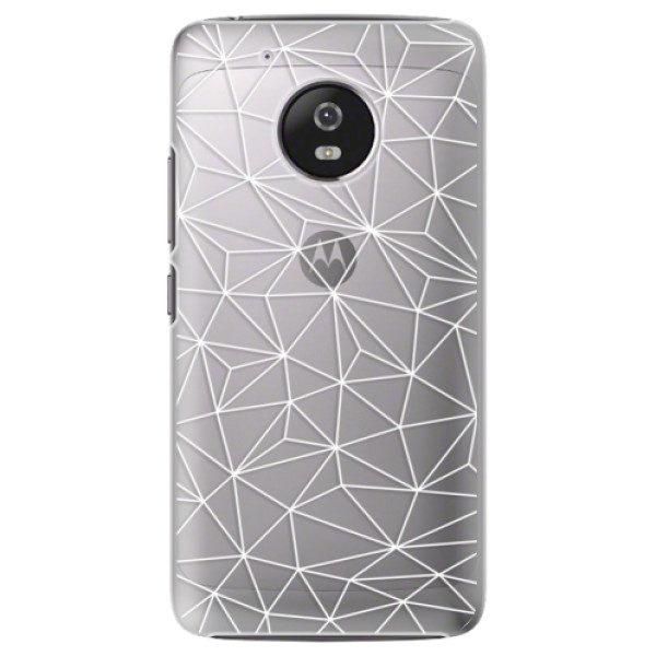 Plastové pouzdro iSaprio – Abstract Triangles 03 – white – Lenovo Moto G5 Plastové pouzdro iSaprio – Abstract Triangles 03 – white – Lenovo Moto G5