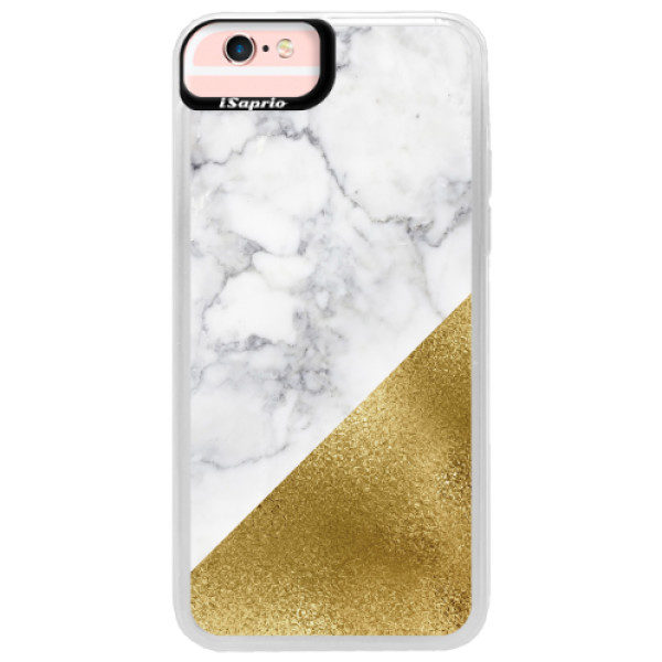 Neonové pouzdro Pink iSaprio – Gold and WH Marble – iPhone 6/6S Neonové pouzdro Pink iSaprio – Gold and WH Marble – iPhone 6/6S
