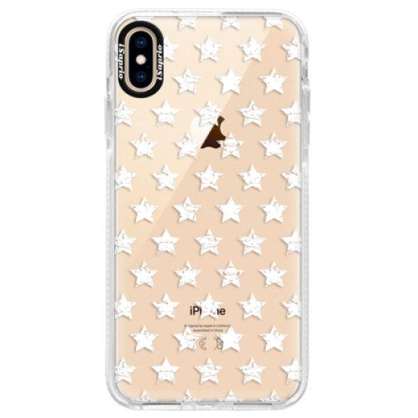 Silikonové pouzdro Bumper iSaprio – Stars Pattern – white – iPhone XS Max Silikonové pouzdro Bumper iSaprio – Stars Pattern – white – iPhone XS Max