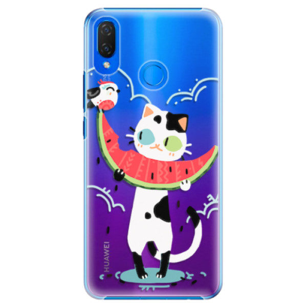 Plastové pouzdro iSaprio – Cat with melon – Huawei Nova 3i Plastové pouzdro iSaprio – Cat with melon – Huawei Nova 3i