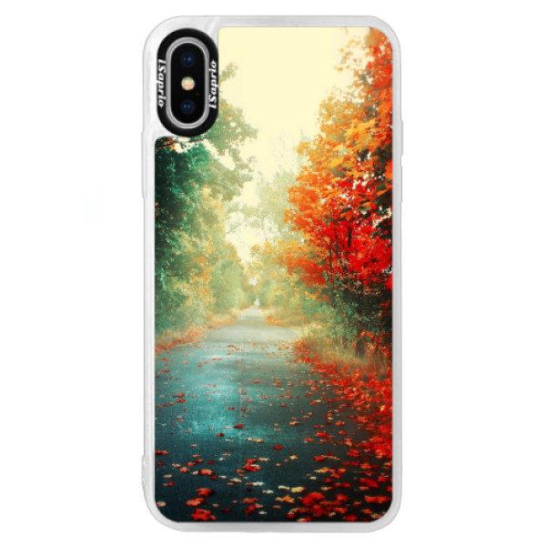 Neonové pouzdro Blue iSaprio – Autumn 03 – iPhone XS Neonové pouzdro Blue iSaprio – Autumn 03 – iPhone XS