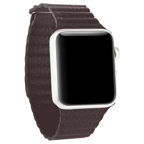 Pásek / řemínek iSaprio Magnetic Leather pro Apple Watch 42mm hnědý Pásek / řemínek iSaprio Magnetic Leather pro Apple Watch 42mm hnědý