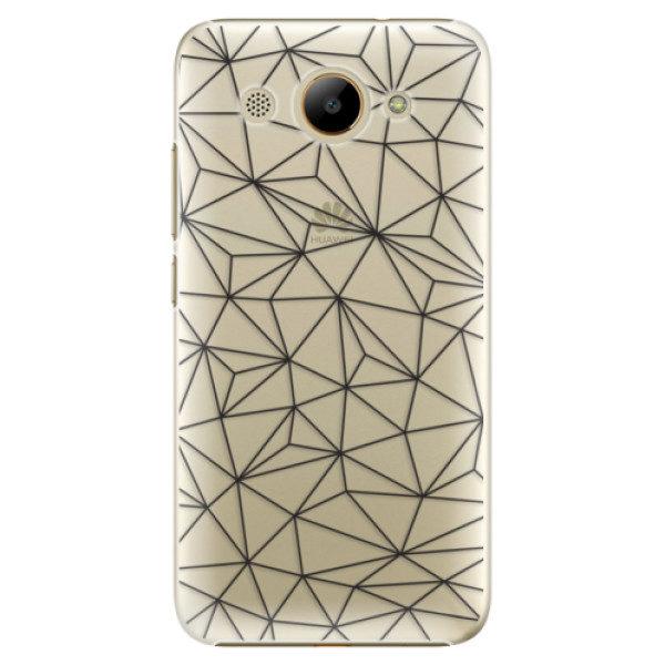 Plastové pouzdro iSaprio – Abstract Triangles 03 – black – Huawei Y3 2017 Plastové pouzdro iSaprio – Abstract Triangles 03 – black – Huawei Y3 2017