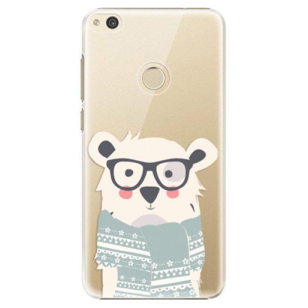 Plastové pouzdro iSaprio – Bear with Scarf – Huawei P8 Lite 2017 Plastové pouzdro iSaprio – Bear with Scarf – Huawei P8 Lite 2017