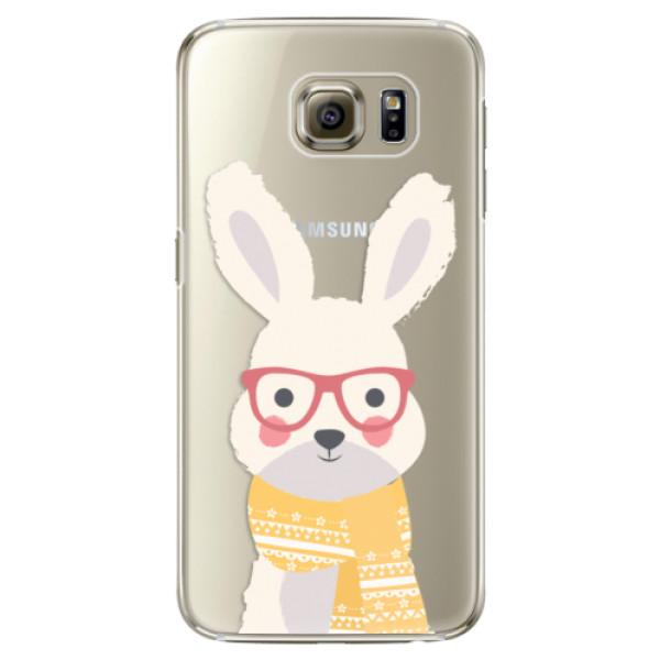 Plastové pouzdro iSaprio – Smart Rabbit – Samsung Galaxy S6 Edge Plastové pouzdro iSaprio – Smart Rabbit – Samsung Galaxy S6 Edge