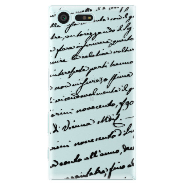 Plastové pouzdro iSaprio – Handwriting 01 – black – Sony Xperia X Compact Plastové pouzdro iSaprio – Handwriting 01 – black – Sony Xperia X Compact