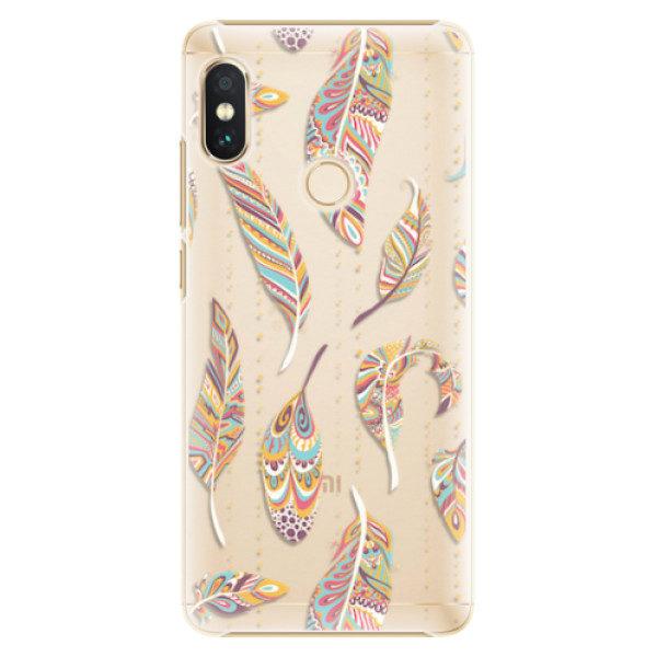 Plastové pouzdro iSaprio – Feather pattern 02 – Xiaomi Redmi Note 5 Plastové pouzdro iSaprio – Feather pattern 02 – Xiaomi Redmi Note 5