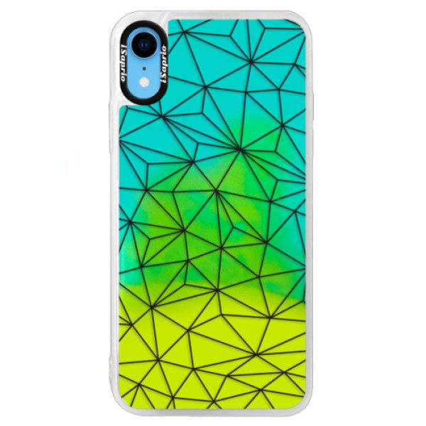 Neonové pouzdro Blue iSaprio – Abstract Triangles 03 – black – iPhone XR Neonové pouzdro Blue iSaprio – Abstract Triangles 03 – black – iPhone XR