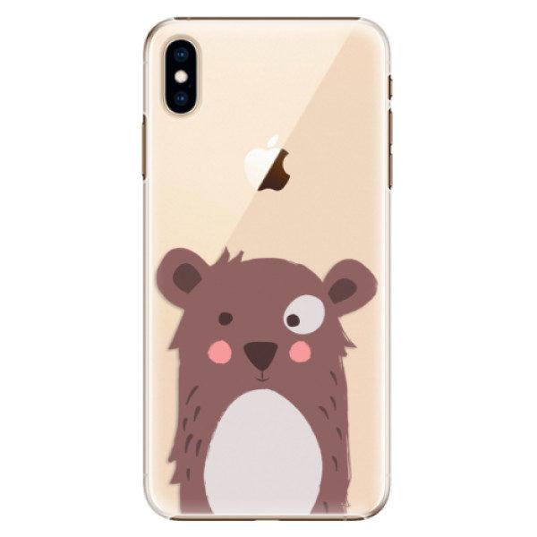Plastové pouzdro iSaprio – Brown Bear – iPhone XS Max Plastové pouzdro iSaprio – Brown Bear – iPhone XS Max