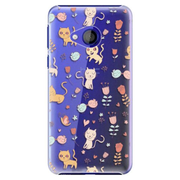 Plastové pouzdro iSaprio – Cat pattern 02 – HTC U Play Plastové pouzdro iSaprio – Cat pattern 02 – HTC U Play