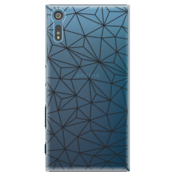 Plastové pouzdro iSaprio – Abstract Triangles 03 – black – Sony Xperia XZ Plastové pouzdro iSaprio – Abstract Triangles 03 – black – Sony Xperia XZ