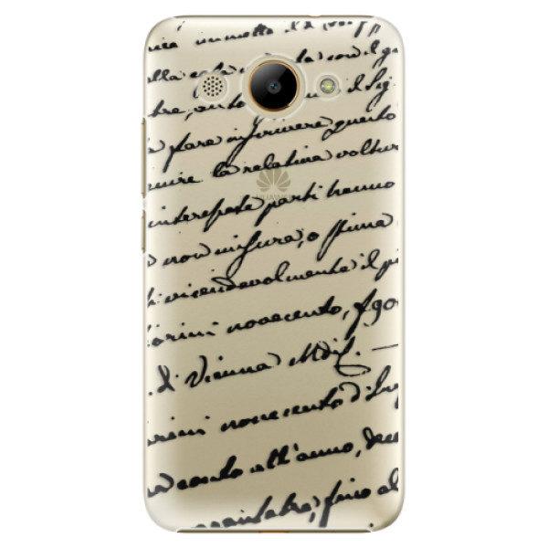 Plastové pouzdro iSaprio – Handwriting 01 – black – Huawei Y3 2017 Plastové pouzdro iSaprio – Handwriting 01 – black – Huawei Y3 2017