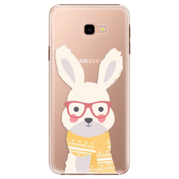 Plastové pouzdro iSaprio – Smart Rabbit – Samsung Galaxy J4+ Plastové pouzdro iSaprio – Smart Rabbit – Samsung Galaxy J4+