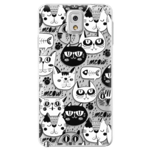 Plastové pouzdro iSaprio – Cat pattern 03 – Samsung Galaxy Note 3 Plastové pouzdro iSaprio – Cat pattern 03 – Samsung Galaxy Note 3