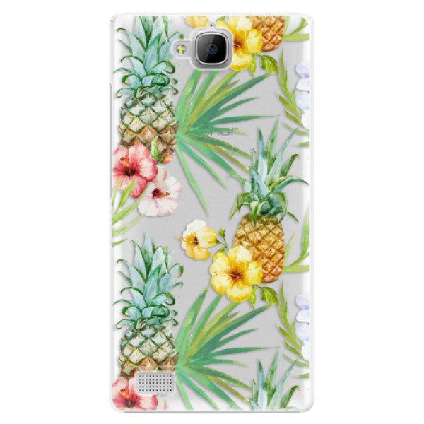 Plastové pouzdro iSaprio – Pineapple Pattern 02 – Huawei Honor 3C Plastové pouzdro iSaprio – Pineapple Pattern 02 – Huawei Honor 3C