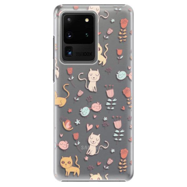 Plastové pouzdro iSaprio – Cat pattern 02 – Samsung Galaxy S20 Ultra Plastové pouzdro iSaprio – Cat pattern 02 – Samsung Galaxy S20 Ultra