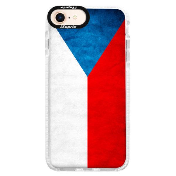 Silikonové pouzdro Bumper iSaprio – Czech Flag – iPhone 8 Silikonové pouzdro Bumper iSaprio – Czech Flag – iPhone 8