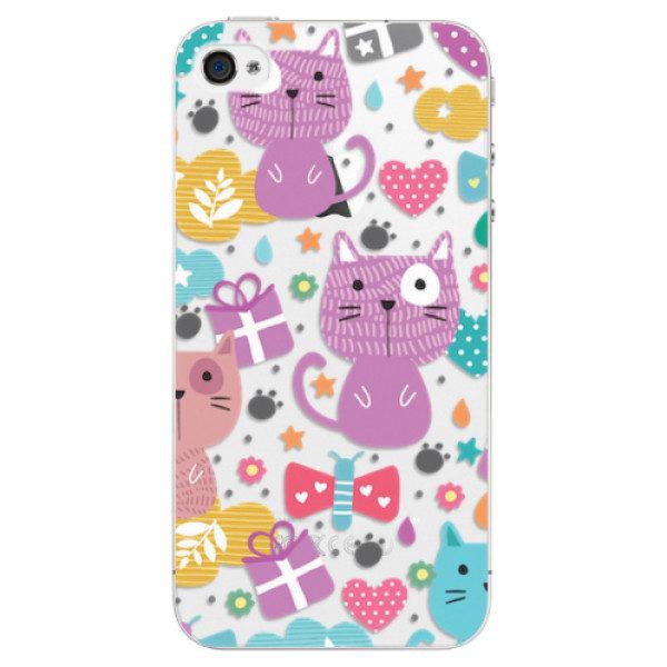 Plastové pouzdro iSaprio – Cat pattern 01 – iPhone 4/4S Plastové pouzdro iSaprio – Cat pattern 01 – iPhone 4/4S