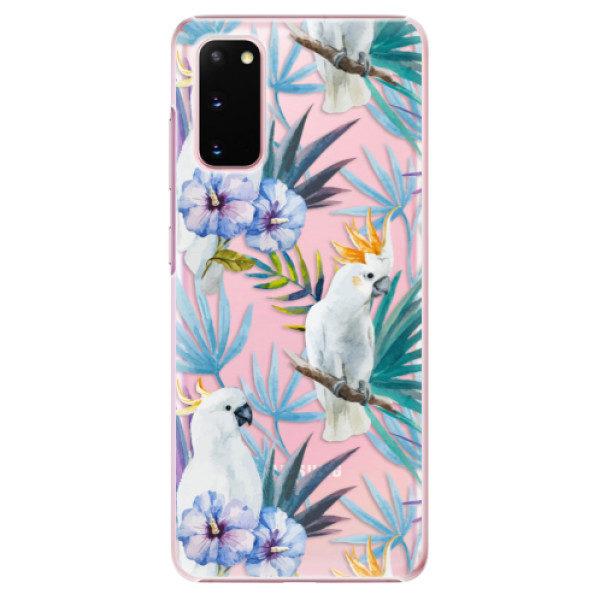 Plastové pouzdro iSaprio – Parrot Pattern 01 – Samsung Galaxy S20 Plastové pouzdro iSaprio – Parrot Pattern 01 – Samsung Galaxy S20