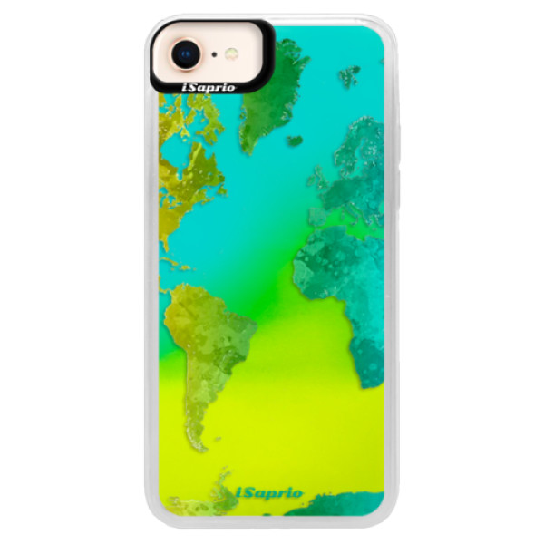 Neonové pouzdro Blue iSaprio – Cold Map – iPhone 8 Neonové pouzdro Blue iSaprio – Cold Map – iPhone 8