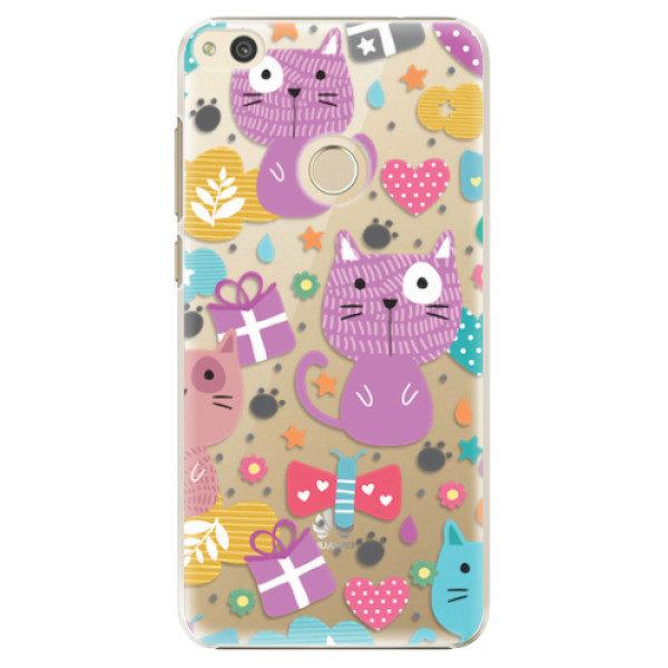 Plastové pouzdro iSaprio – Cat pattern 01 – Huawei P8 Lite 2017 Plastové pouzdro iSaprio – Cat pattern 01 – Huawei P8 Lite 2017